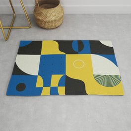 Abstract Geometric Composition 028 Rug