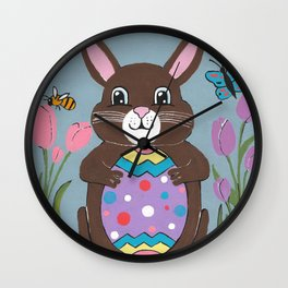 Happy Easter For Kids Wall Clock