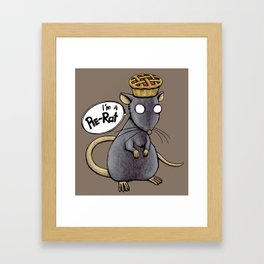 Pie-Rat Framed Art Print