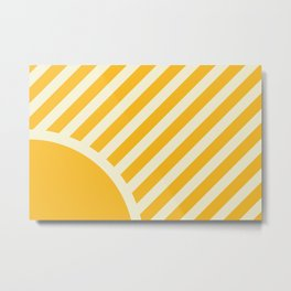 Geometric Sunshine Metal Print