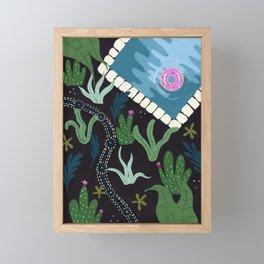 Path through the cactus Framed Mini Art Print