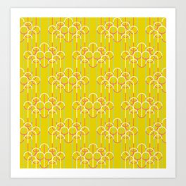 Chandeliers Yellow Art Print