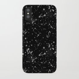 Black Galaxy Constellation Star Pattern iPhone Case