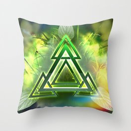 Sacred Geometry - Equilateral Triangle 05 Throw Pillow