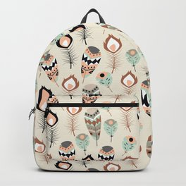 Tribal feather pattern 033 Backpack