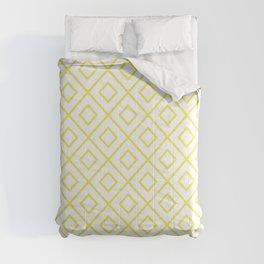 Yellow Diamond Pattern 2 Comforters