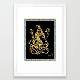 SHIVA - Hindu God of Destruction Framed Art Print