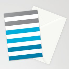Stripes Gradient - Blue Stationery Cards