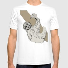 Sloth Mens Fitted Tee MEDIUM White