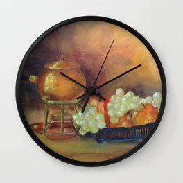 Compoição com frutas II (Composition with fruits II) Wall Clock