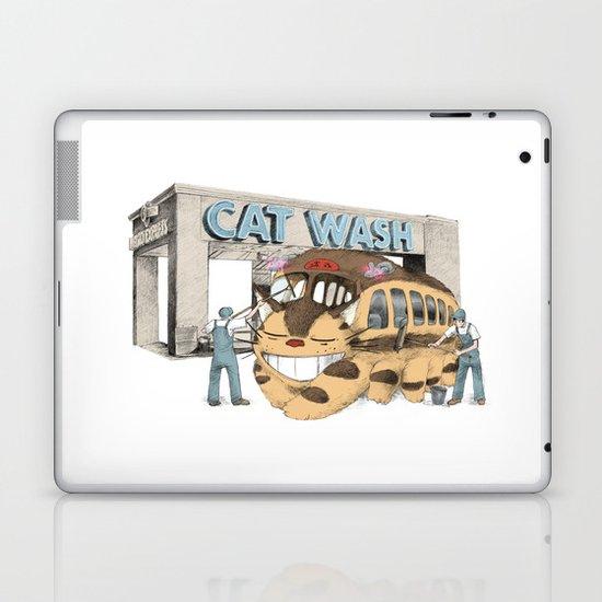 Cat Wash Laptop & iPad Skin