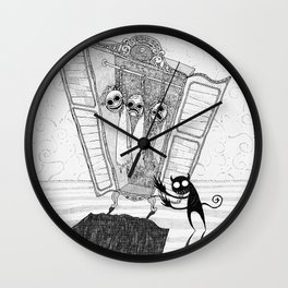 The Imp's Grim Collection Wall Clock