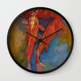 Koi Bubbles Wall Clock