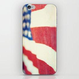 Vintage USA Flag, Stars and Stripes iPhone Skin