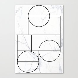 Marble Line Canvas Print