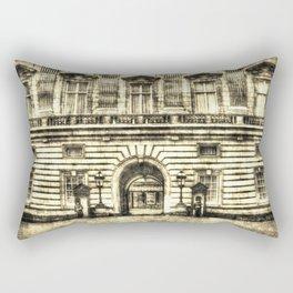 Buckingham Palace London Vintage Rectangular Pillow
