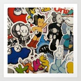 kaws bff Art Print