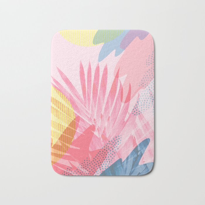 Pastel Jungle Bath Mat