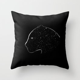 Moon-eyed star panther Throw Pillow