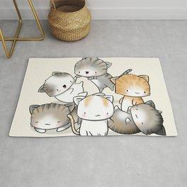 Cute Kitty Doodle Rug