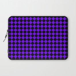 Black and Indigo Violet Diamonds Laptop Sleeve