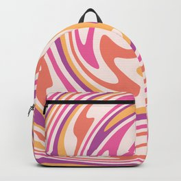 70s retro swirl sunset psychedelic Backpack