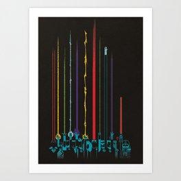 Super Power Encounter Art Print