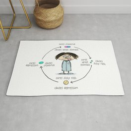 Medicinal Cures and Causes | Humorous Illustration Rug