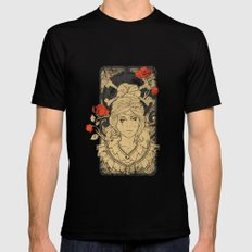 Art Nouveau MEDIUM Mens Fitted Tee Black