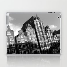 Amsterdam Canal Houses B&W Laptop & iPad Skin