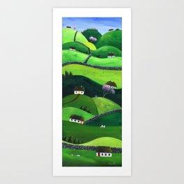 Hilly High Hills Art Print