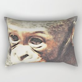 Animal ArtStudio 25416 Baby Chimp Rectangular Pillow