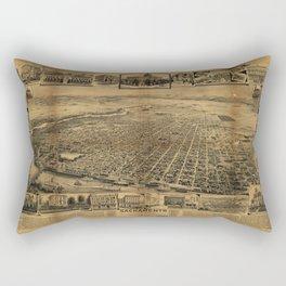 Aerial View of Sacramento, California (circa 1890) Rectangular Pillow
