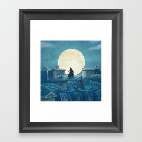 Rooftoppers - square format  Framed Art Print