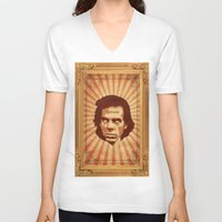 nick cave V-neck T-shirts featuring Cave by Durro