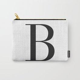 'B' Initial Carry-All Pouch