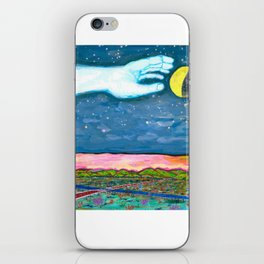 Moon Grab iPhone Skin
