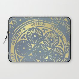 power of one: coal grey & gold Laptop Sleeve