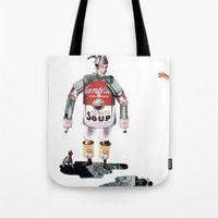 knight Tote Bags featuring knight by swinx