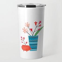 Blue vase Travel Mug