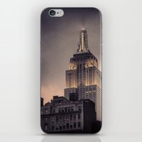 gotham iPhone & iPod Skins featuring Gotham by Amritha Mahesh