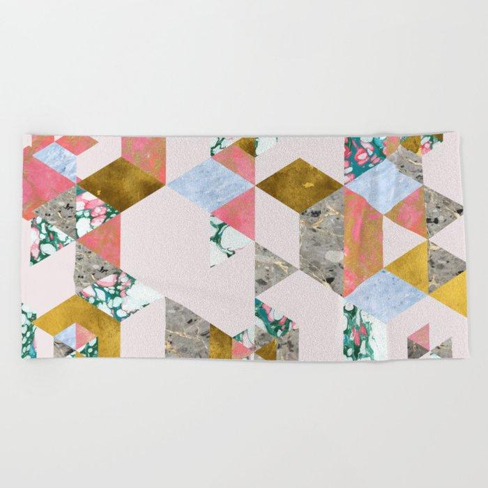 Geometry of Love #society6 #decor #buyart Beach Towel