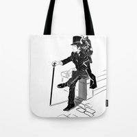 victorian Tote Bags featuring Victorian by Cassandra Jean