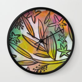Bright Colorful Jungle Canopy Wall Clock