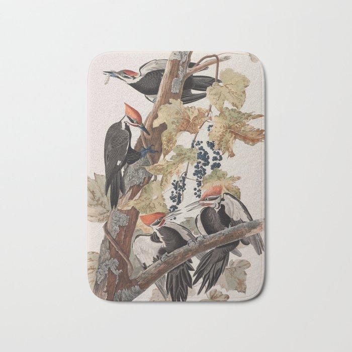 John James Audubon -Woodpecker Bath Mat