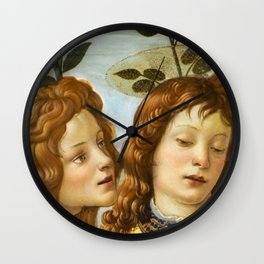 Sandro Botticelli - Angels 4. detail Wall Clock