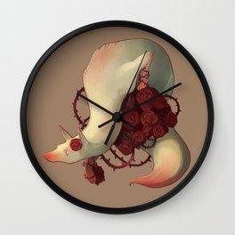 Fox Roses Wall Clock