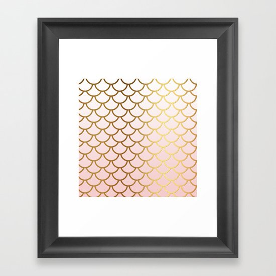 Pink Gradient And Gold Foil MermaidScales - Mermaid Scales by betterhome