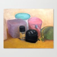 makeup Canvas Prints featuring Makeup by Melanie Dela Cruz