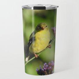 Goldfinch in the Garden Travel Mug